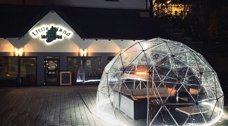 5 diameter full clear dome tent in Prague